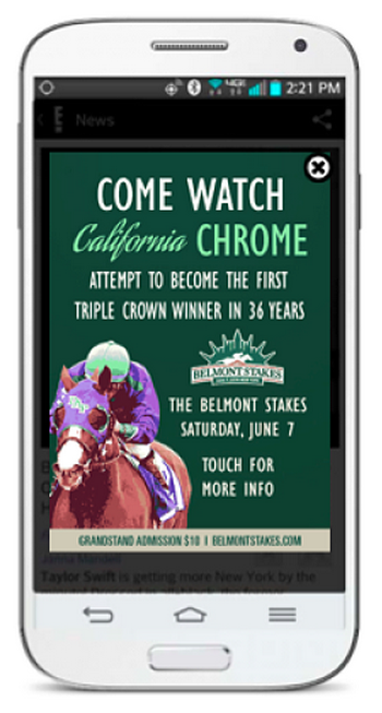 Belmont Stakes Mobile Mktg