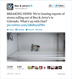 Ben & Jerry's Tweet
