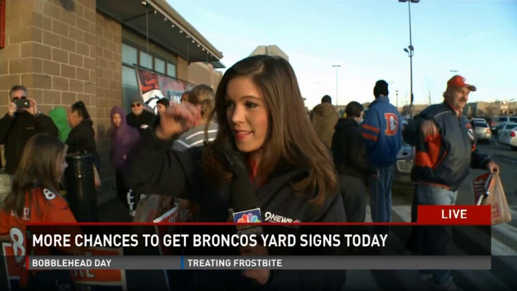 Broncos Yard Sign News