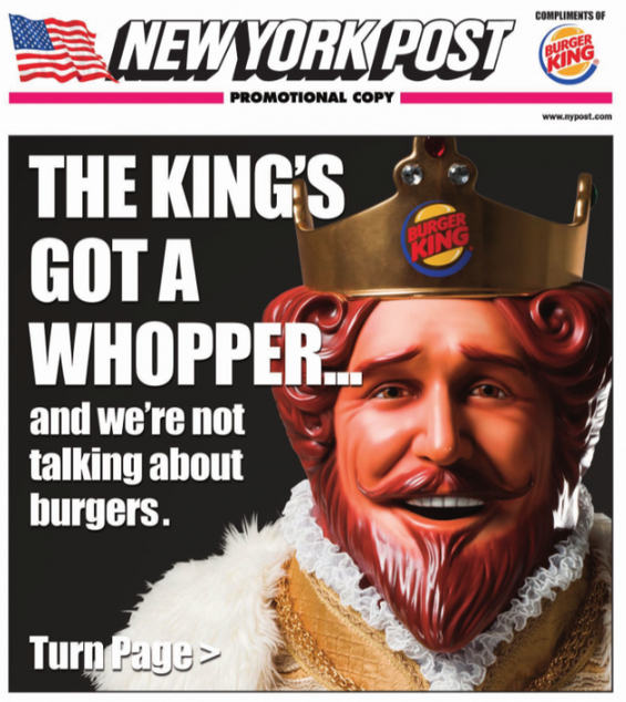 Burger King Racy Ads