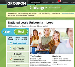 Groupon University Offer