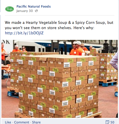 Pacific Foods Giving Back