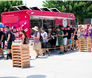 reebok Bacon Box Food TRuck