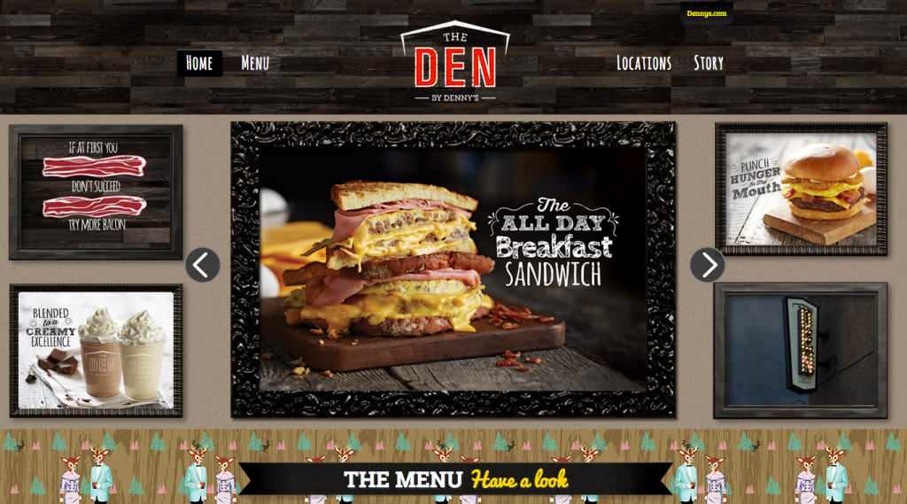 """The Den"" by Denny's"