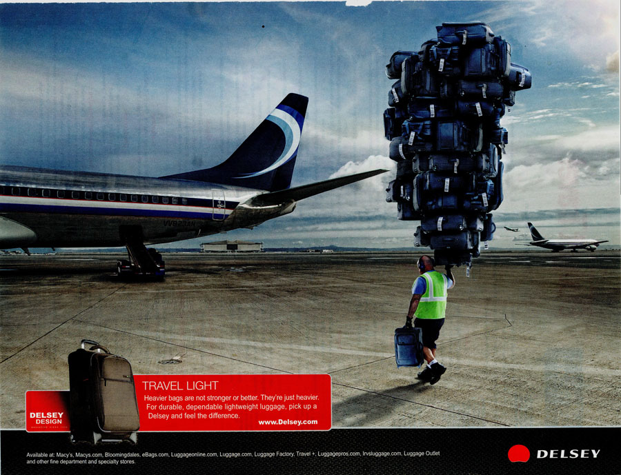 delsey luggage ad