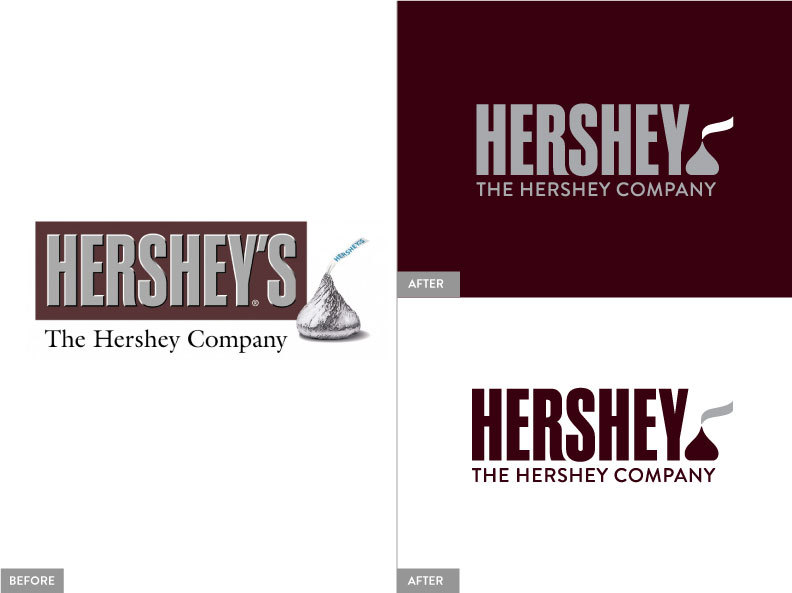 New Hershey Logo Comparisons